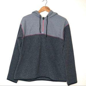 prAna Liora Fleece Hoodie 1/4 Zip Pullover Gray M